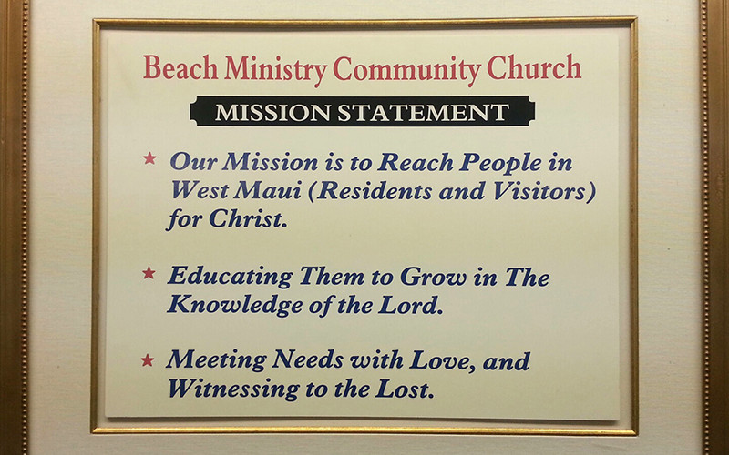 Beach Ministry Mission Statement